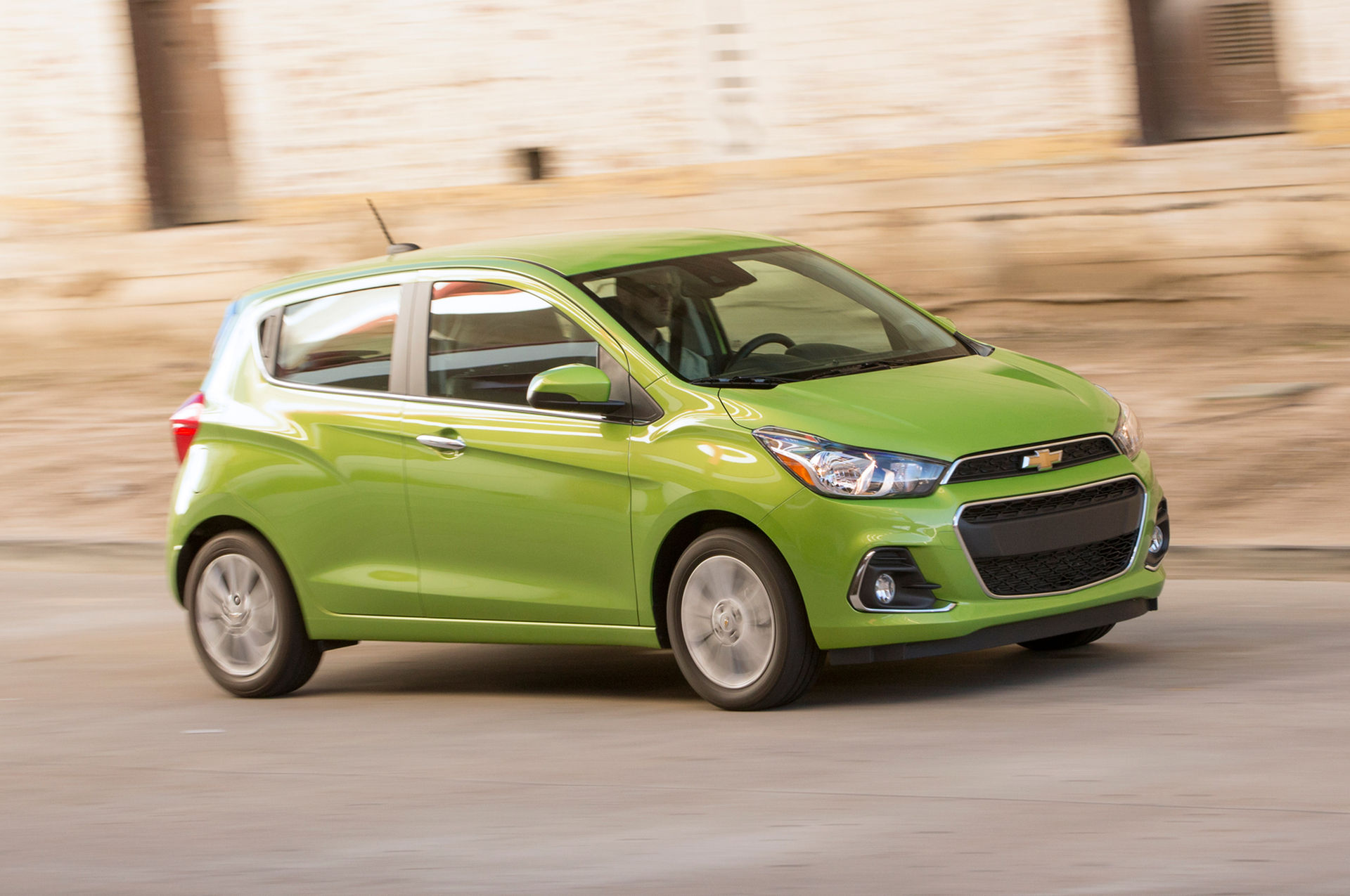 2016-Chevrolet-Spark-LT-front-three-quarter-in-motion