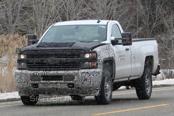 2017 Silverado Hd Facelift Spied Gm Inside News