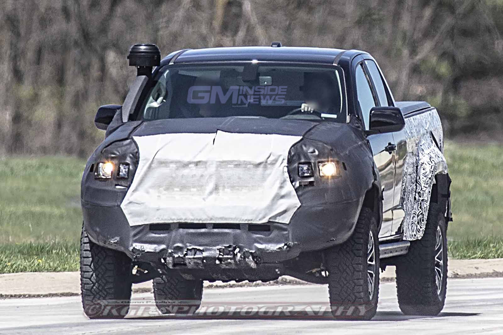 Chevy Colorado Zr2 Bison Spied Testing With A Snorkel