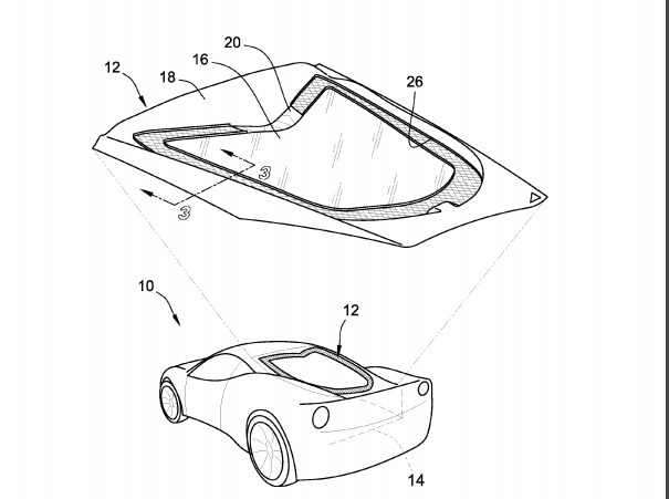 gm patents mid-engine vented hood