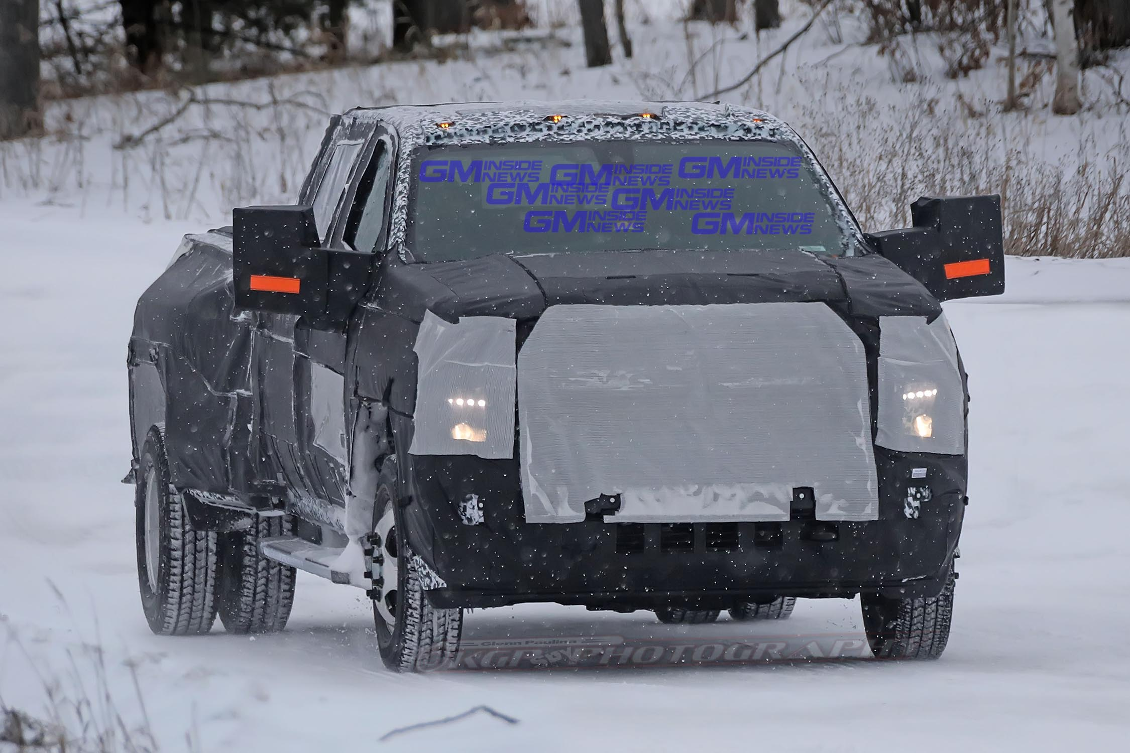2020 Chevrolet Silverado Hd Spotted Testing In The Snow Gm Inside News